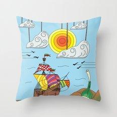 OLD BOY PIRATE Throw Pillow