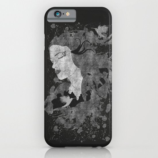 Cosmic dreams (B&W) iPhone & iPod Case