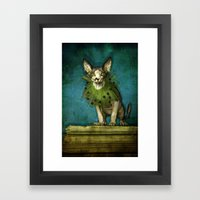 Green collar Framed Art Print