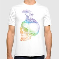 Mushroom Mens Fitted Tee White SMALL