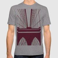 Brooklyn Bridge Mens Fitted Tee Athletic Grey SMALL