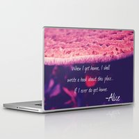 alice in wonderland Laptop & iPad Skins featuring Wonderland by Josrick