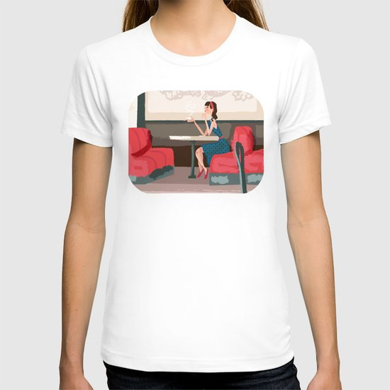 Sipping Green Tea at the Sushi House T-shirt