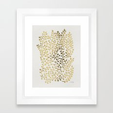 Gold Ivy Framed Art Print