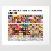 The Periodic Table Of Th… Art Print