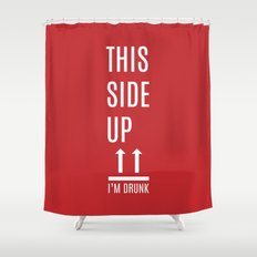 This side up Shower Curtain