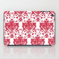 giving hearts giving hope: red damask iPad Case