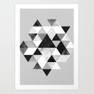 Graphic 202 Black And Wh… Art Print
