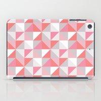 Peach Geometric; iPad Case