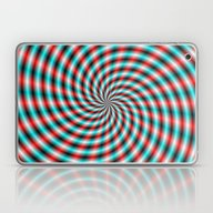 Turquoise And Red Spiral… Laptop & iPad Skin
