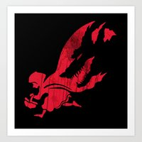Little Red Hood Art Print