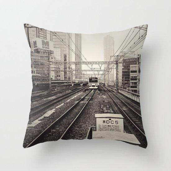 Japan 5 Throw Pillow