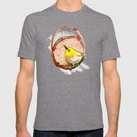 Spring Birdy / Nr. 1 Mens Fitted Tee Tri-Grey SMALL