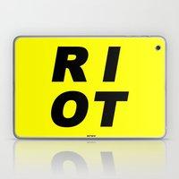 RIOT (BLACK AND YELLOW) Laptop & iPad Skin