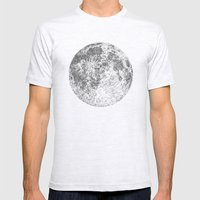 Moon Mens Fitted Tee Ash Grey SMALL