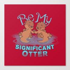 Otter Valentine Canvas Print