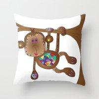 Monkey of the Day Throw Pillow