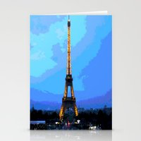 eiffel Stationery Cards featuring Eiffel by osile ignacio