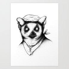 Hipster Lemur Art Print