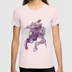 Gas Mask Womens Fitted Tee Light Pink SMALL