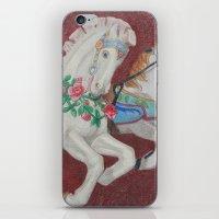 Carousel Race iPhone & iPod Skin
