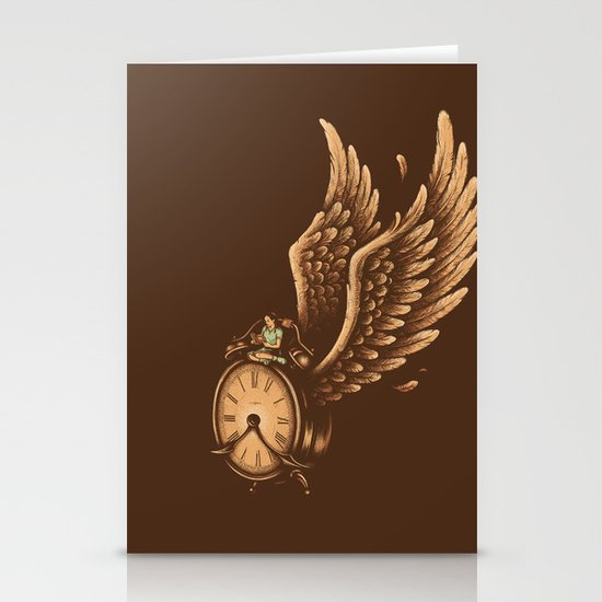 Time Flies Stationery Card