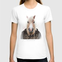 Cheval Womens Fitted Tee White SMALL