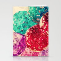 Vintage Jewel Colors Cir… Stationery Cards