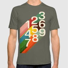 Retro Numbers Mens Fitted Tee Lieutenant SMALL