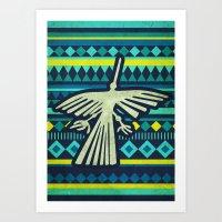 Nazca Condor Art Print