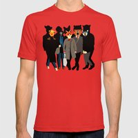The gang Mens Fitted Tee Red SMALL