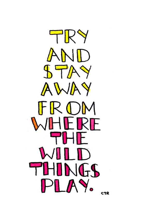 wild things - san cisco Art Print
