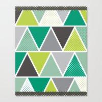 Triangulum - Emerald Canvas Print