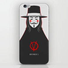 V for vendetta November 5 Minimal Poster iPhone & iPod Skin