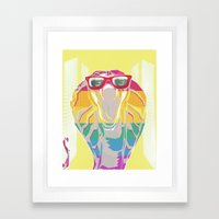 Cobra don't care Framed Art Print