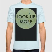 Look Up More Mens Fitted Tee Light Blue SMALL