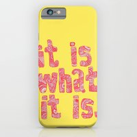 iPhone & iPod Case featuring What It Is Yellow by lush tart