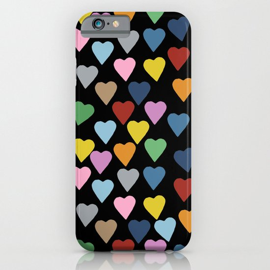 Hearts #3 Black iPhone & iPod Case