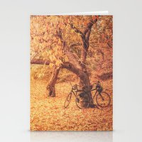 new york city Stationery Cards featuring Autumn - New York City by Vivienne Gucwa