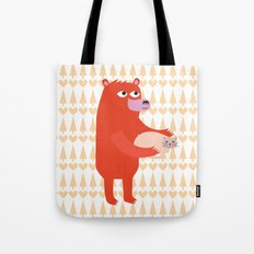 Bear and cat BFF Tote Bag