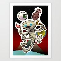 I Heart Mummy Art Print