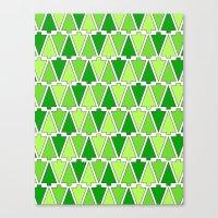 Holiday Tree Pattern Canvas Print