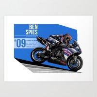Ben Spies - 2009 Donington Park Art Print