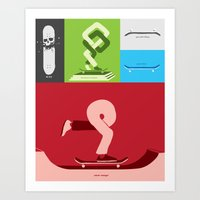 Skateboarding Is An Idea… Art Print