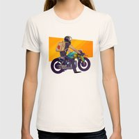 Biker Womens Fitted Tee Natural SMALL