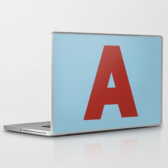Red A Laptop & iPad Skin