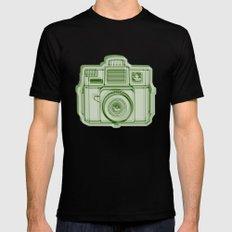 I Still Shoot Film Holga Logo - Reversed Green Mens Fitted Tee Black SMALL