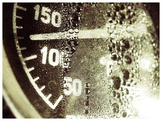 temperature gauge Art Print
