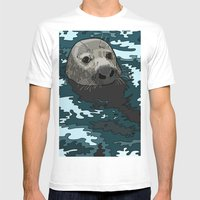 Grey Seal Mens Fitted Tee White SMALL
