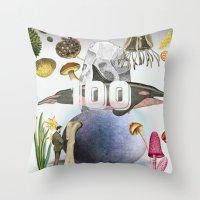 100 Throw Pillow